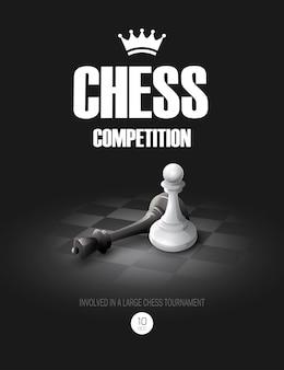 Concetto di scacchi vincente. sfondo