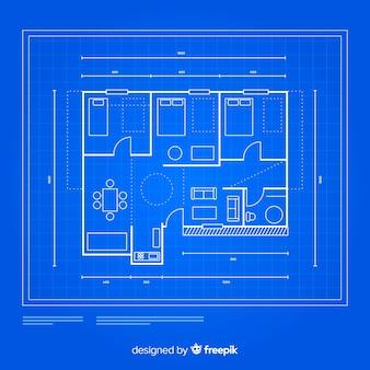 Concetto di schizzo casa architettonica