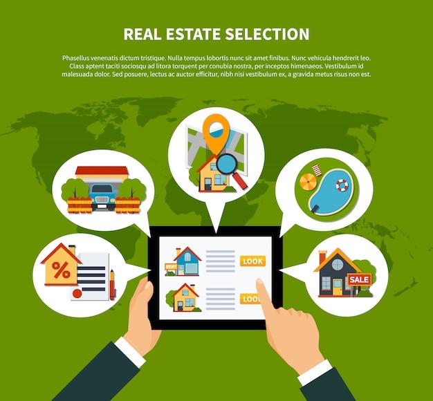Concetto di selezione immobiliare