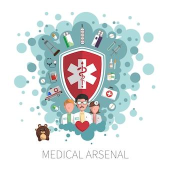 Concetto di servizi sanitari di medicina