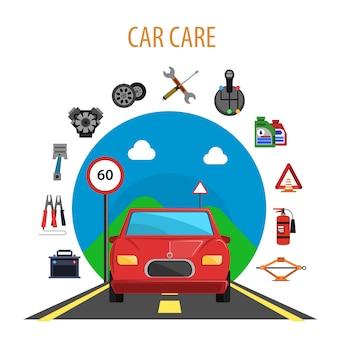 Concetto di servizio auto