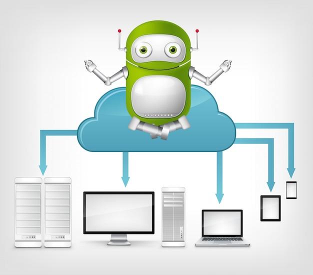 Concetto di servizio cloud.