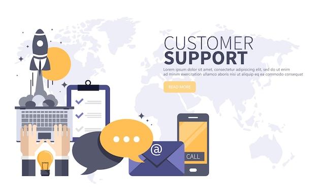 Concetto di servizio di assistenza clienti business