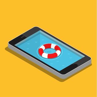 Concetto di servizio di emergenza mobile