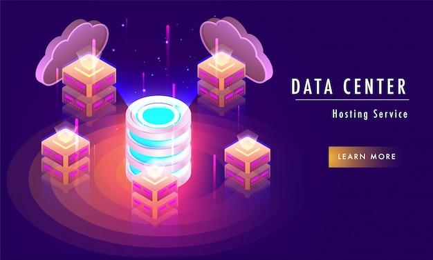 Concetto di servizio di hosting del data center,