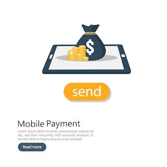 Concetto di servizio di pagamento mobile online