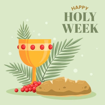 Concetto di settimana santa design piatto