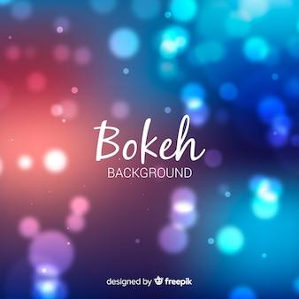 Concetto di sfondo blu bokeh