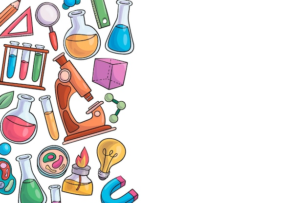 Concetto di sfondo colorato educazione scientifica