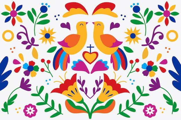 Concetto di sfondo colorato messicano