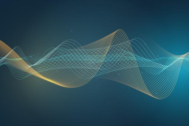 Concetto di sfondo colorato onda equalizzatore