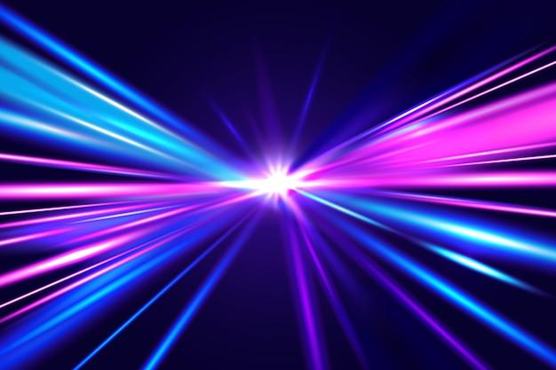 Concetto di sfondo delle luci di velocità