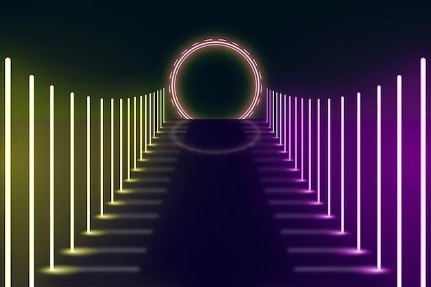 Concetto di sfondo di luci al neon
