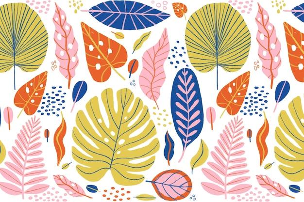 Concetto di sfondo foglie tropicali
