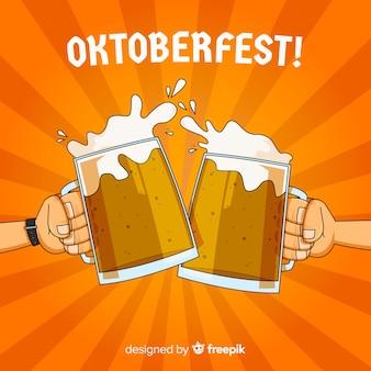 Concetto di sfondo oktoberfest