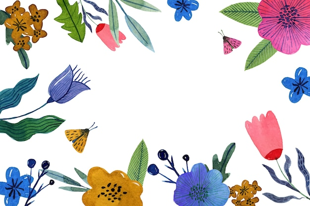 Concetto di sfondo primavera dell'acquerello