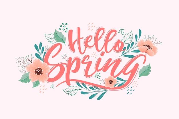 Concetto di sfondo primavera disegnata