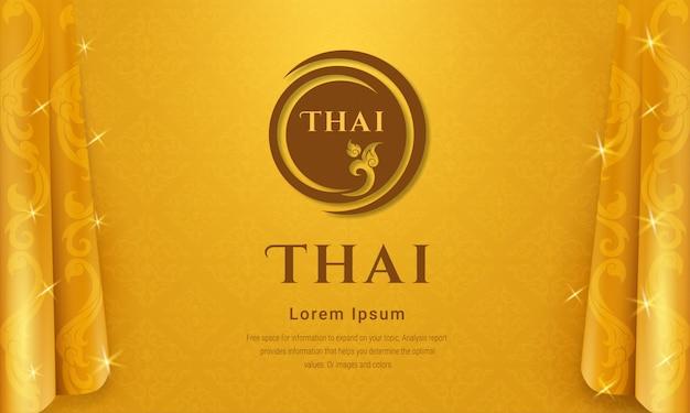 Concetto di sfondo tradizionale tailandese.