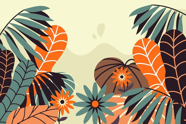 Concetto di sfondo tropicale vintage