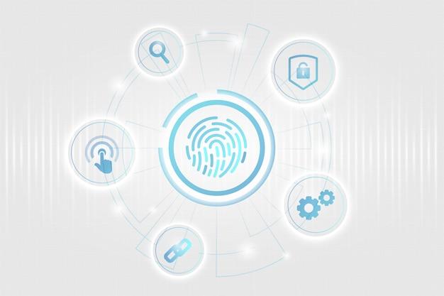 Concetto di sicurezza biometrica