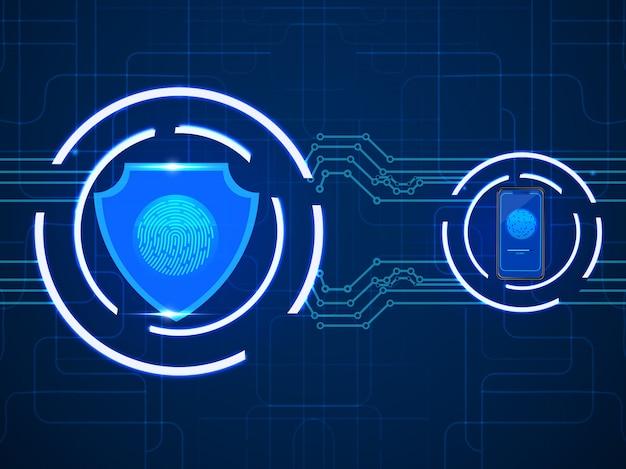 Concetto di sicurezza della tecnologia.