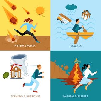 Concetto di sicurezza di disastri naturali