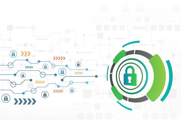 Concetto di sicurezza informatica del fondo astratto di tecnologia