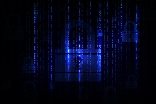 Concetto di sicurezza informatica. tecnologia di sfondo astratto.