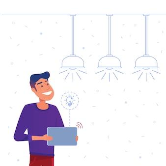 Concetto di sistema di gestione energetica domestica intelligente.