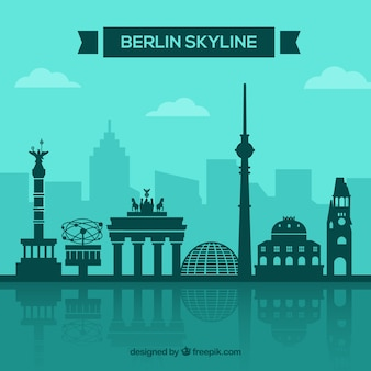 Concetto di skyline di berlino