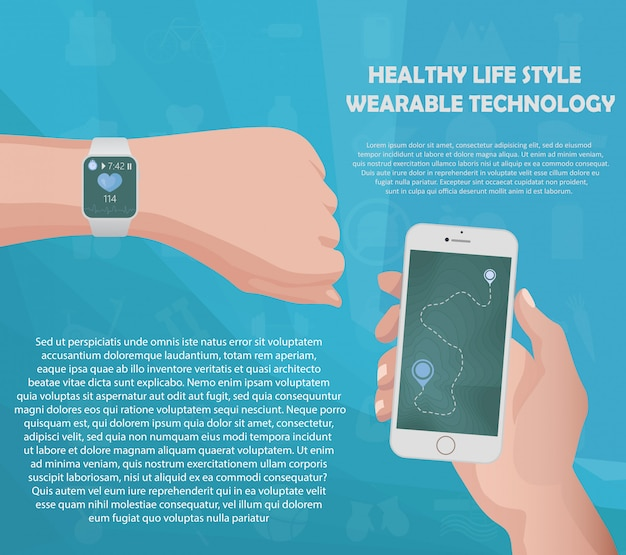 Concetto di smartwatch fitness tracker