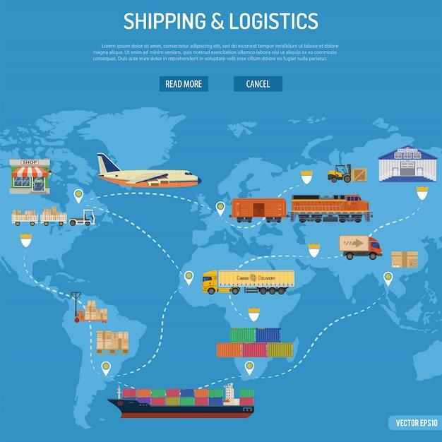 Concetto di spedizione e logistica