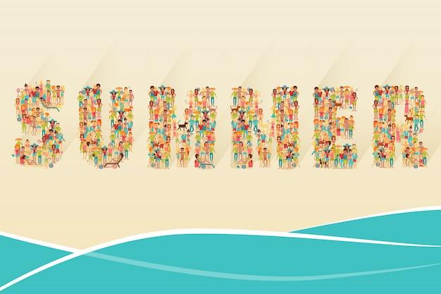 Concetto di spiaggia estiva