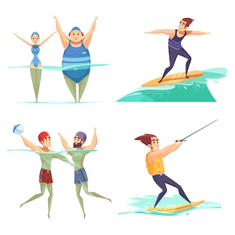 Concetto di sport acquatici