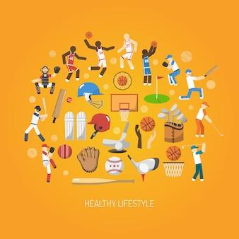Concetto di sport piatto