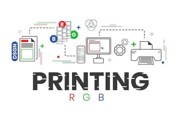 Concetto di stampa digitale