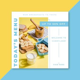 Concetto di storia di instagram alimentare