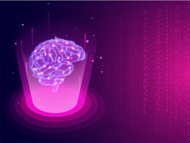 Concetto di storming del cervello umano o di intelligenza medica.