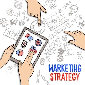 Concetto di strategia di marketing