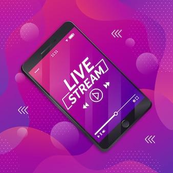 Concetto di streaming live