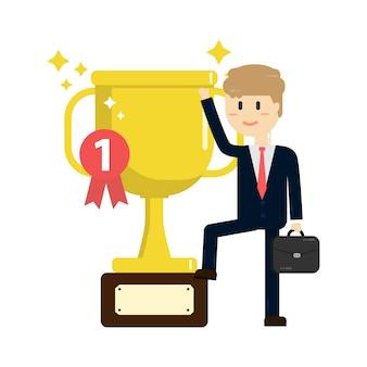 Concetto di successo aziendale, premi