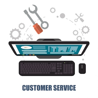 Concetto di supporto del servizio clienti