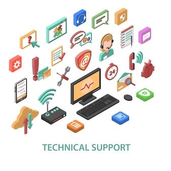 Concetto di supporto tecnico
