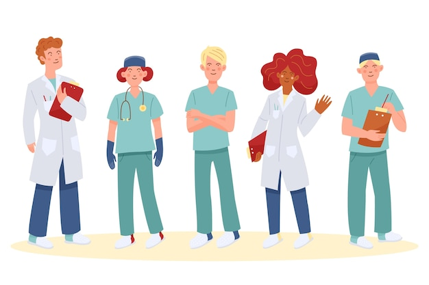 Concetto di team di professionisti della salute