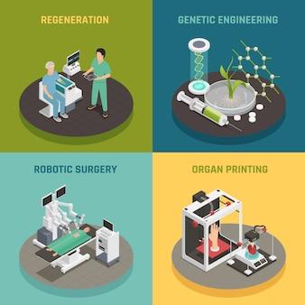 Concetto di tecnologia del futuro della medicina