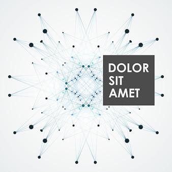 Concetto di tecnologia di linee di connessione e punti