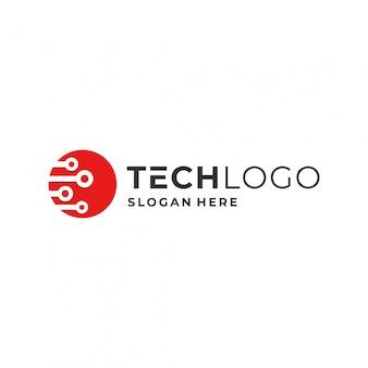Concetto di tecnologia logo.