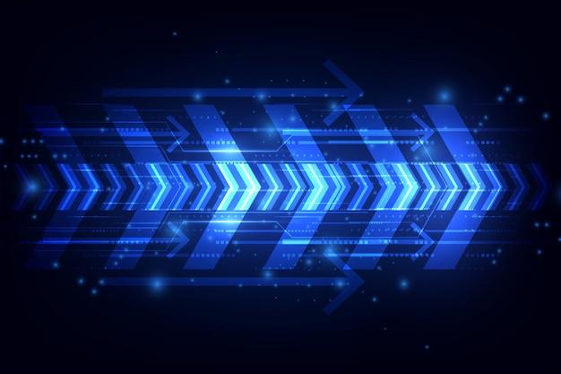Concetto di tecnologia velocità astratta. illustrazione vettoriale sfondo