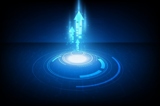 Concetto di tecnologia velocità astratta