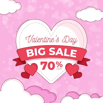 Concetto di tema di vendita di san valentino